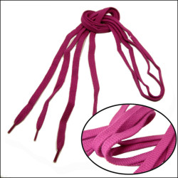 Polyester flat fabric Plain weave magenta plain cotton shoelcaes for adverting gift