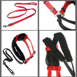 Popular red and black Corset for dog leash