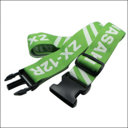 Green adjustable travel identification belt for luggage and luggage belt