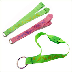 Colorful soft Easter gift polyester soft certificate lanyard keychain safety lanyards