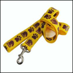 梅花印狗脚印图案柔软加厚尼龙狗带宠物带牵引绳遛狗带