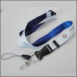 双面异色热转印挂绳多功能厂牌带工作证件套挂带