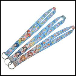 卡通美少女双面热转印学生校牌挂绳男童女童涤纶挂带