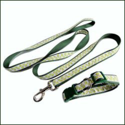 牢固安全的织唛尼龙狗狗牵引绳宠物带宠物脖圈两件套