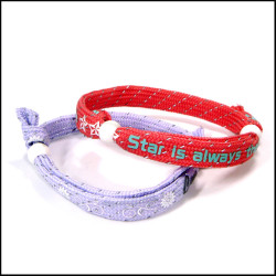 Fashion reflective silk adjustable wrist rope straps