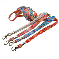 Polyester narrow band heat transfer pattern customized with the label identification lanyard belt
