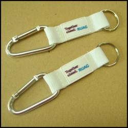 硅胶logo户外旅行挂绳涤纶带爬山扣短绳钥匙挂绳