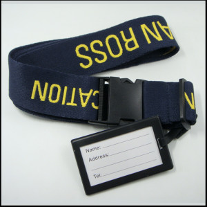 高档定制加厚超柔旅行箱包带提花印字带行李牌行李识别带