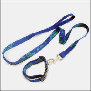 加厚加固油墨印刷宠物牵引绳宠物脖圈两件套