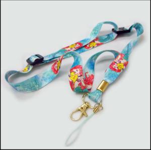 可调节的热转印可爱图案涤纶挂带男童女童吊带挂绳
