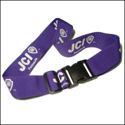 Purple adjustable travel luggage strap custom design suitcase bag belt macufacture