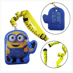 Disney product PVC card holder polyester sreen printing lanyard