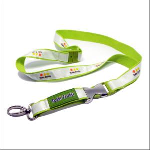 Popular polyester satin neck brand lanyard custom neck strap