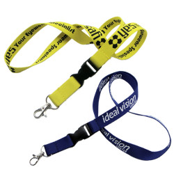 Woven logo on one side polyester lanyard custom logo