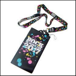 Custom fashion fancy printed neck strap show ticket card holder lanyard