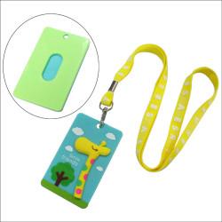 定制长颈鹿小鸟塑胶卡套印字印花绦纶儿童织带
