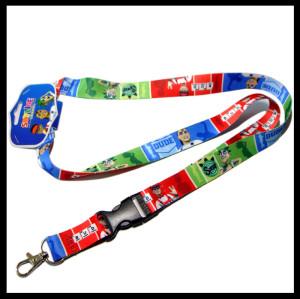 安全可调节的热转印涤纶挂带男童女童吊带挂绳