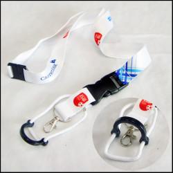 安全可调节多功能水壶挂带证件套热转印挂绳