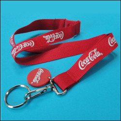 Cocacola design custom logo design enterprise staff hang card lanyard