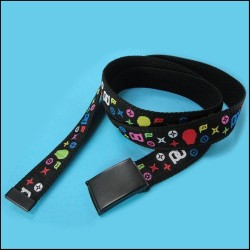 Colorful pattern computer jacquard woven label with high-grade polyester belt