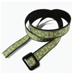 The new embroidery pattern thickening encryption fashion narrow belt
