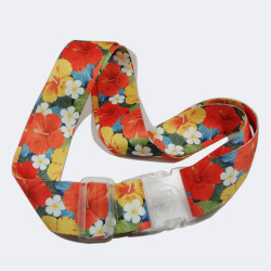 Colorful sublimation flowers adjustable travel badge straps