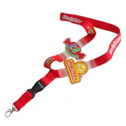 安全环保硅胶涤纶儿童证件套挂绳高档宣传赠品挂带