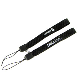 DELL黑色印字10cm微弹空心短带U盘手机绳钥匙挂绳