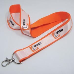 橙色定制油墨印花织唛涤纶带宣传带赠品带员工证件挂绳