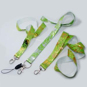 Fashion rope Foil Stamped Logo custom design logo neck lanyards