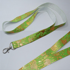 Factory directly gold stamping logo foil stamp gift for staff card straps