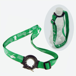 Special Portable plastic toothed bottles hang rope kettle neck straps