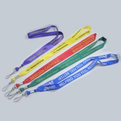 厂价直销定制多款多色尼龙带证件挂绳工作证胸卡带