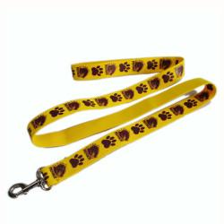 Wholesale premium yellow polyester handles pet dog leash