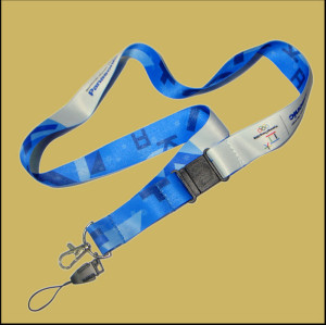 Sponsor LOGO tags hang with advertising products sublimation polyester neck lanyards