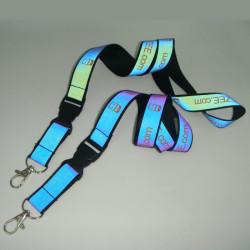 新品时尚个性七彩反光证件带夜行识别挂绳胸卡织带