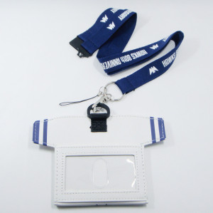 个性造形PU证件套优质涤纶挂绳