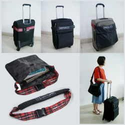 New style feature Luggage Belt with Bag printed custom logo