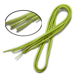 Light color polyester round shoelaces with square special tip