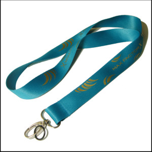 Gold color screen printing logo ID card holder neck custom lanyard