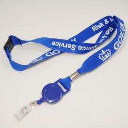 带易拉扣平纹绦纶织带网版印刷logo证件套挂绳
