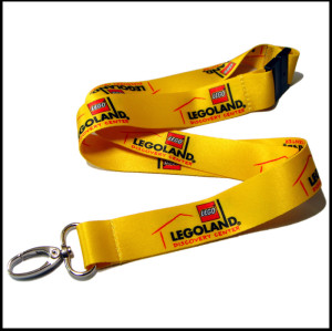 Factory direct sales promotional card holder polyester lanyards