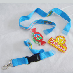 Hight quality neck strap advertising gifts Silicone logo lanyards