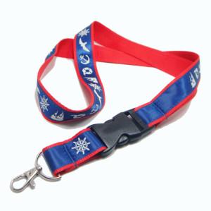 可定制印花缎带织唛证件工作证活动插扣挂带
