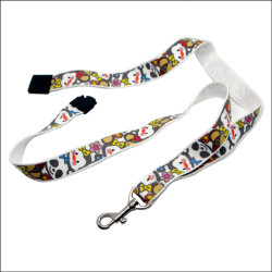 Sreen printing polyester adjustable safety harness and lanyards