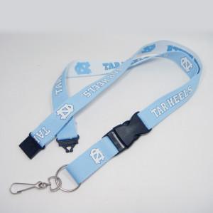 高品质加宽加厚的双面多色丝印证件套挂绳