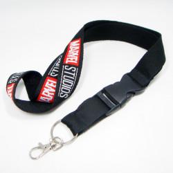 柔软加厚的单面提花双层涤纶证件套挂绳