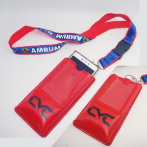 新款手机包挂带可定制印花缎带织唛证件工作证活动插扣挂带