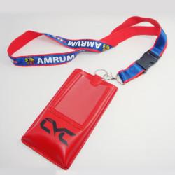 新しい携帯電話のかばん合成皮革カードで小銭を包むストラップ