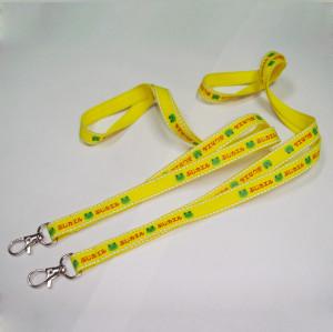 色彩明亮的带反光丝夜行涤纶织带挂绳精美印花的证件吊带